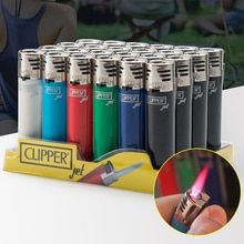 Classic CLIPPER Jet Lighter Straight Flame Torch Pipe Gasoline Lighter Refillable Gas Butane Cigaret