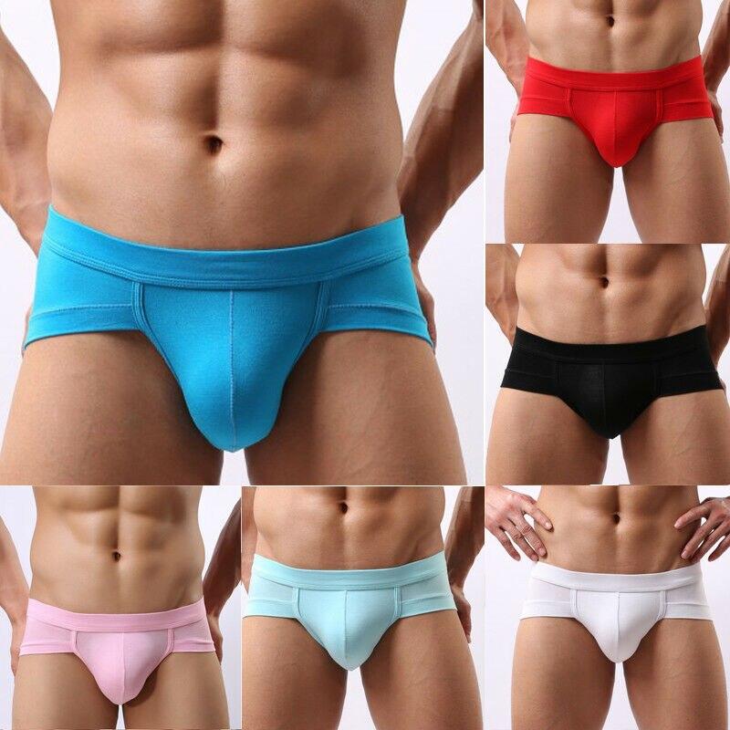 Meihuida Plus Size Mens Erotic Sex Seamless Low Waist Solid Short Boxers Pants Underwear Underpant
