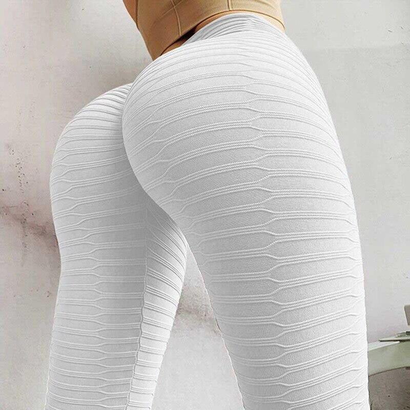 Jokor, mallas de rayas lisas para mujer, Leggings de cintura alta para Fitness, pantalones de entrenamiento con efecto Push Up a la moda, transpirables para correr