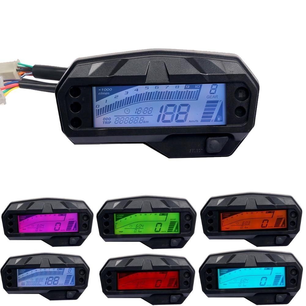 2021 Universal Motorcycle Speedometer Gauge Digital Electronics Indicator Led Display Accessories For Yamaha FZ16 Temperature