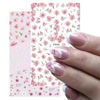 nail art decor summer sliders simple flower design cherry blossoms 3d sakura pink nail art sticker water transfer