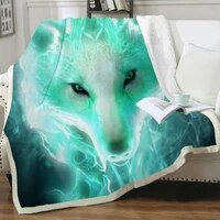nknk wolf blankets animal blankets for beds war thin quilt flame bedding throw sherpa blanket animal premium polyester cozy