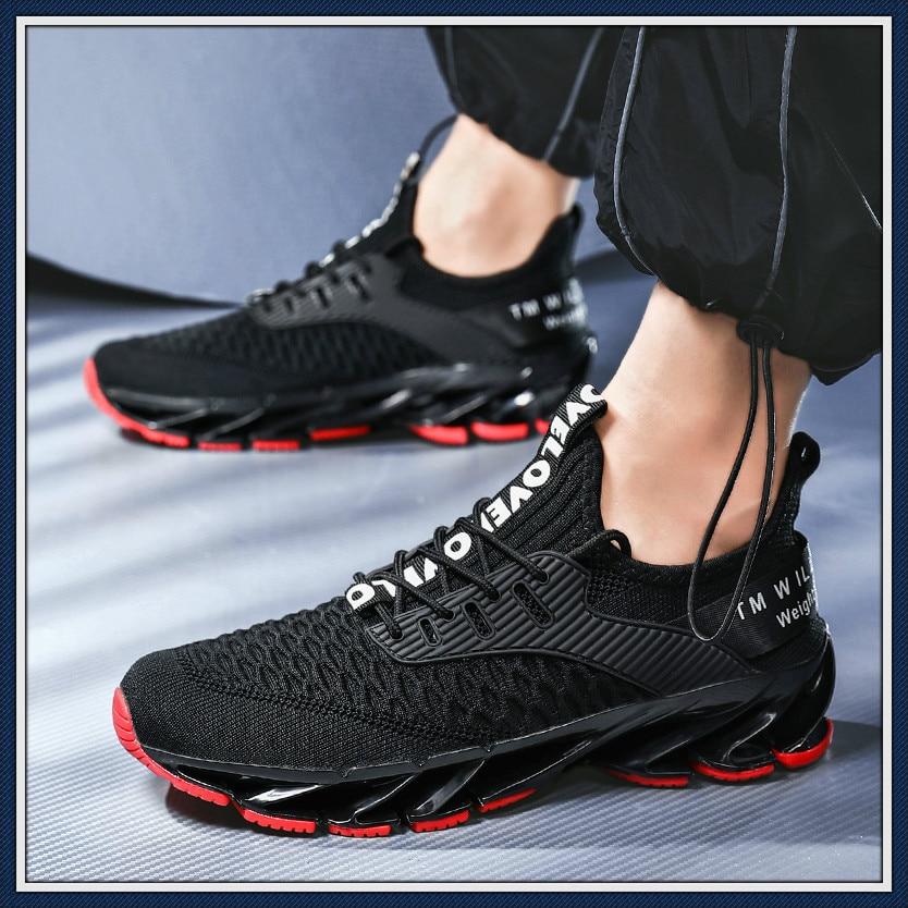 2020 nueva cuchilla zapatillas de correr para hombre antideslizantes amortiguación Cool Outsole caminar Trekking ocio verano Running zapatillas