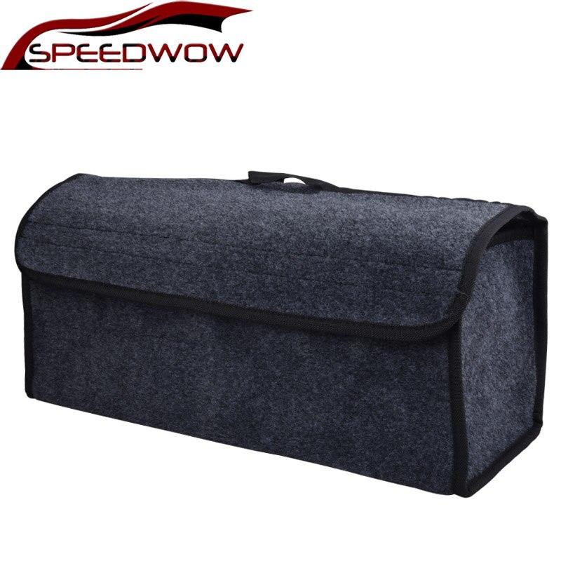 Speedwow organizador do carro sacos de feltro macio caixa de armazenamento tronco saco de organizador de ferramenta automática multi-uso estiva tidying pacote organizador