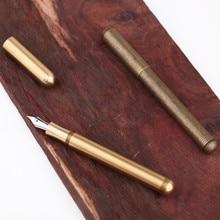 Полностью фонтан из латуни Delike, металлическая чернильная ручка, Iraurita EF/F/EF, ручка для письма Перьевые ручки      АлиЭкспресс