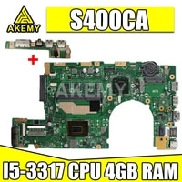 s400ca motherboard rev3 1 for asus s400ca i5 3317 cpu 4gb ram laptop motherboard s500c s400c s500ca notebook mainboard