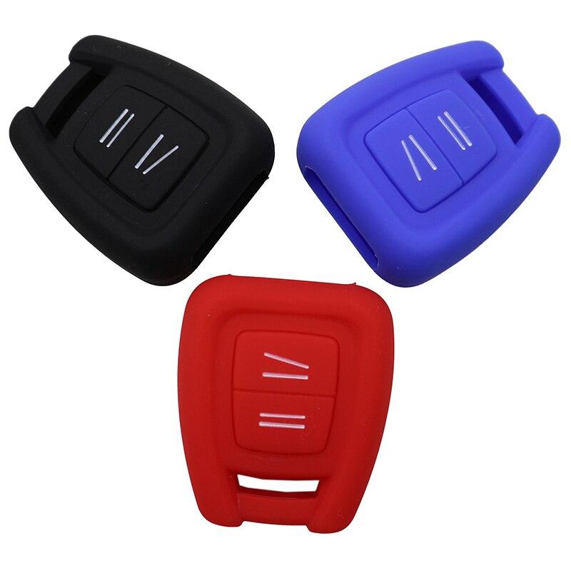2 botones de silicona funda de control remoto de coche cubierta de Shell para Opel VAUXHALL Vectra Zafira Omega Astra