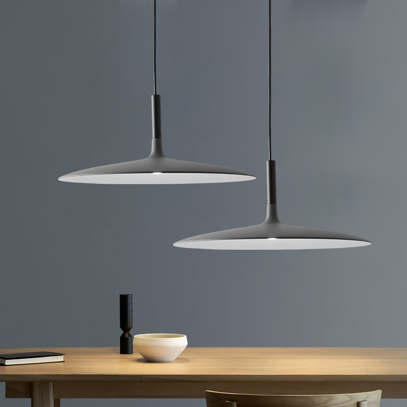 Nordic Restaurant UFO Chandelier Simple Creative Industrial Style Minimalist Bar Restaurant Flying Saucer Chander  Single Head creative contemporary single head restaurant bar bedroom of children clothing store droplight of glass ball and spherical shape