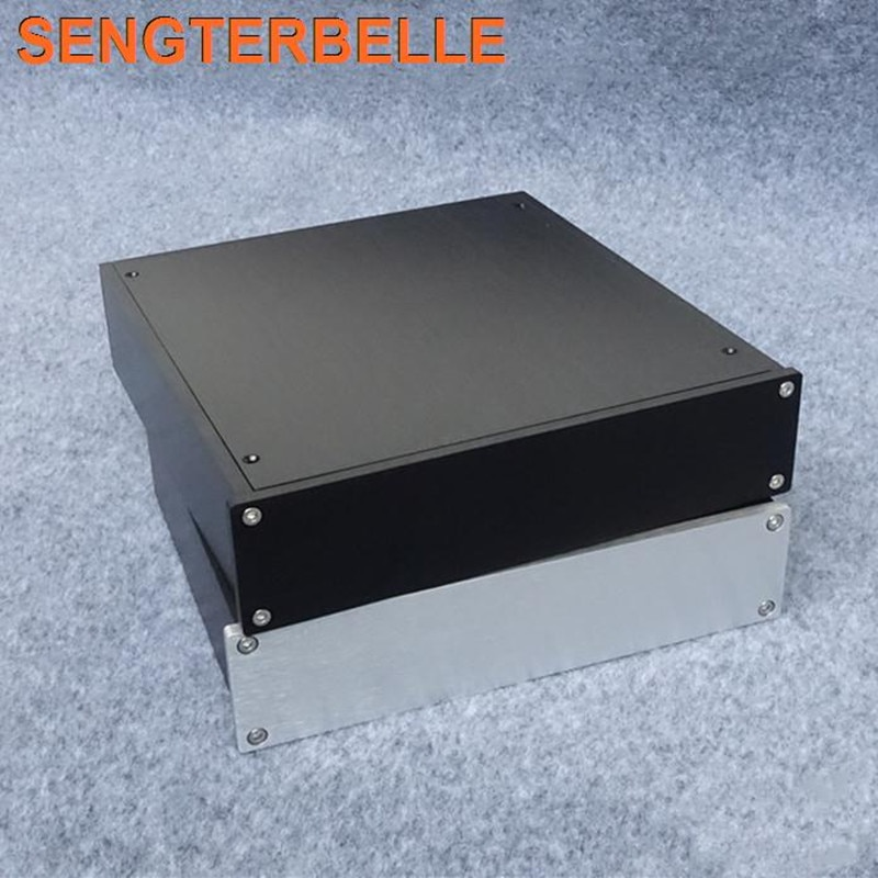 hifi aluminum us ac power distributor 6 outlet power supply box chassis case BZ2205 All Aluminum Chassis Amplifier Audio Housing Power Amp Case DIY Box Pre-Amp Enclosure