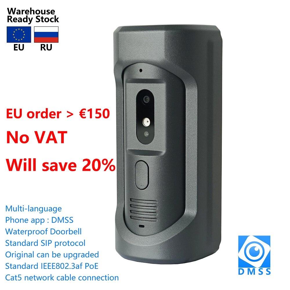 DH logo VTO2101E-P-S1 PoE(802.3af) IP فيلا معدنية الجرس ، باب الهاتف ، جرس الباب ، IP فيديو إنترفون ، دعوة إلى التطبيق الهاتف ، الإصدار SIP