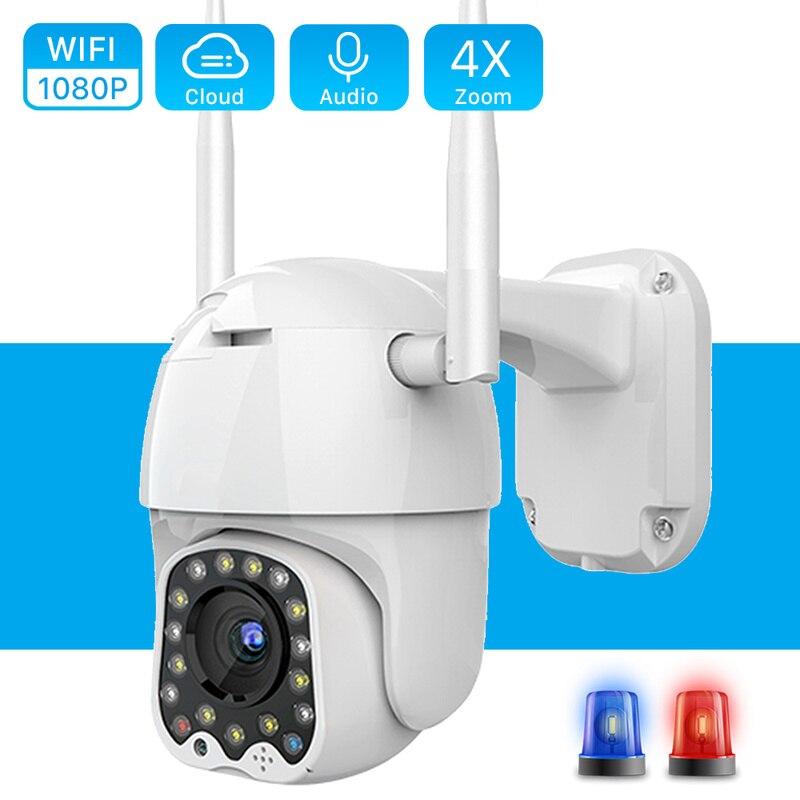 Cámara De vigilancia PTZ para exteriores, videocámara De Seguridad con seguimiento automático...