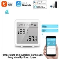 tuya wifi temperature and humidity sensor indoor hygrometer thermometer detector support alexa google home tuya smart life app