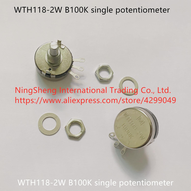 Original new 100% WTH118-2W B100K single potentiometer (SWITCH)