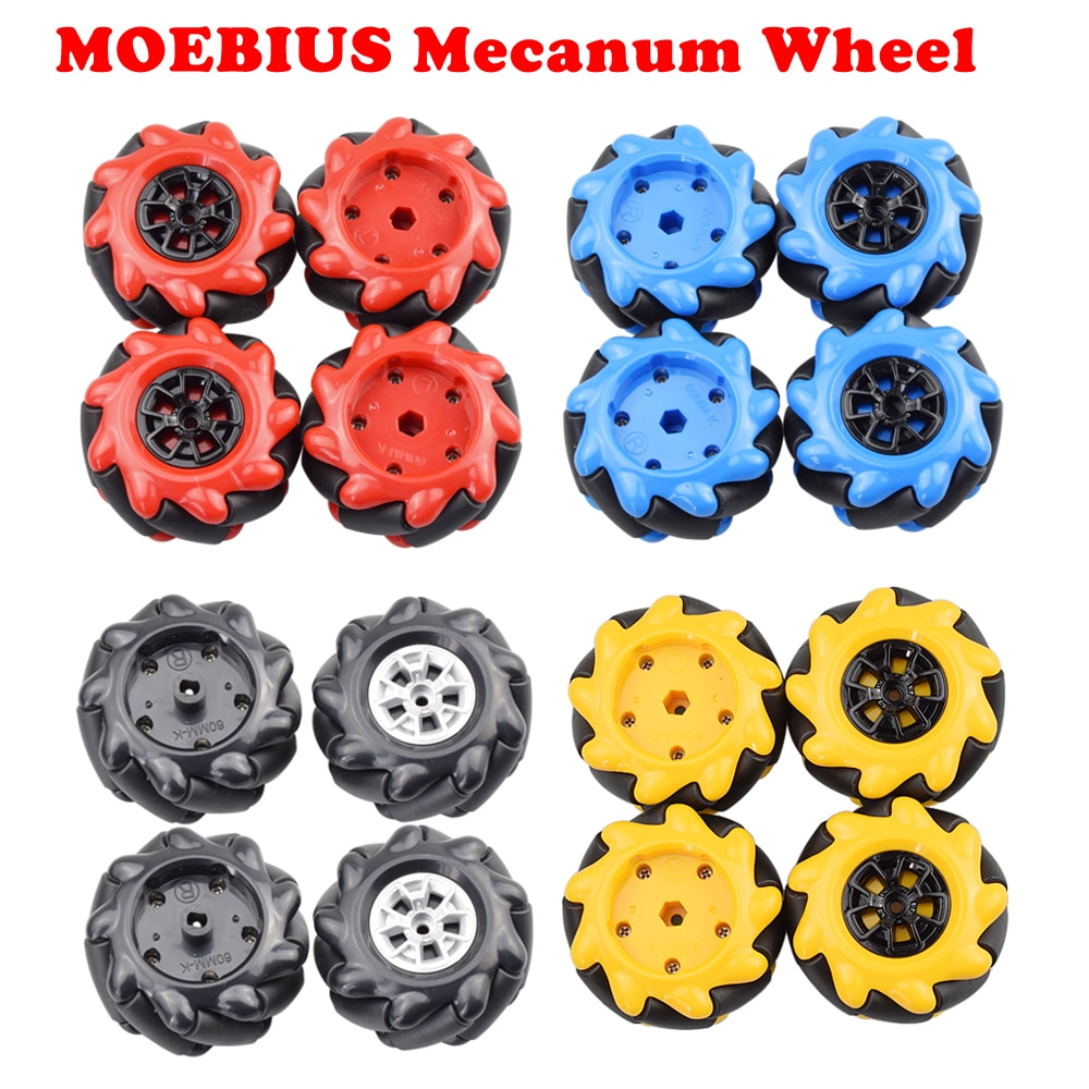MOEBIUS 2020 حار 60 مللي متر Mecanum عجلة Omni الإطارات متوافق مع موتور TT LEGOs لاردوينو لتقوم بها بنفسك روبوت الجذعية أجزاء لعبة