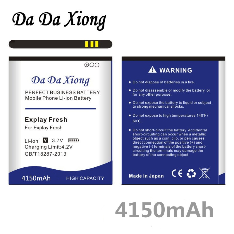 Da Da Xiong 4150mAh Battery for Explay Fresh Explay Vega Explay A500 Wiko Bloom Wiko Cink Five Wiko Rainbow phone