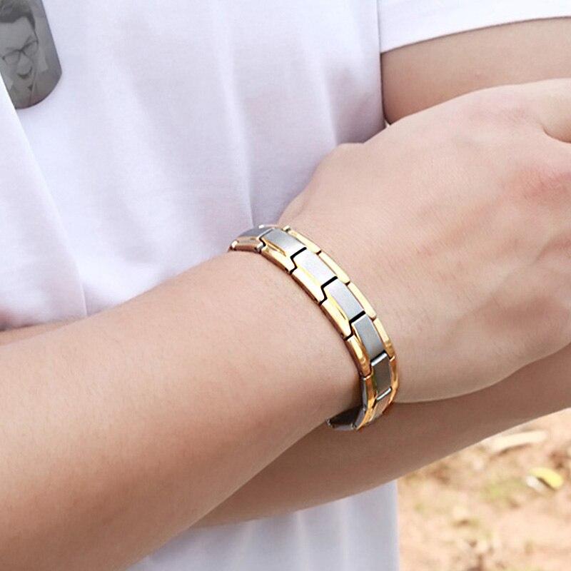 Германий магнитные браслеты для мужчин электромагнитные каменные из