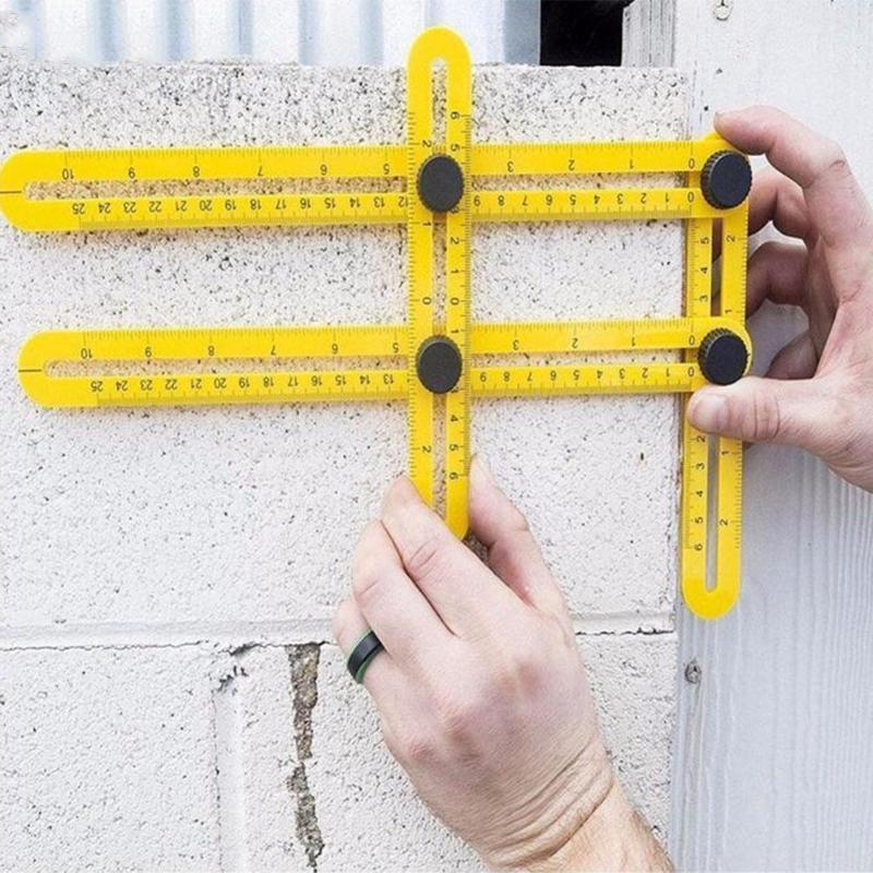 ABS Складная многоугловая линейка, шаблон, инструмент 4, Складной Гибкий измерительный инструмент, домашний инструмент, деревообрабатывающи...