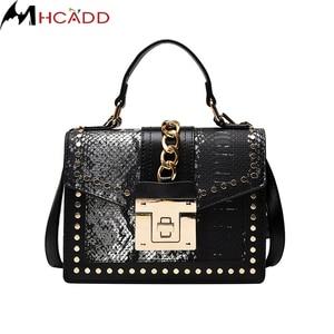 Fashion Snake Pattern PU Leather Crossbody Bag For Women 2021 Designer Shoulder Messenger Bag Lady Chain Travel Small Handbag