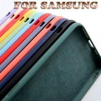 fashion liquid soft silicone candy colors phone case for samsung galaxy m40s m10 m20 m30 m51 m31 m21 m30s m40 protection cover