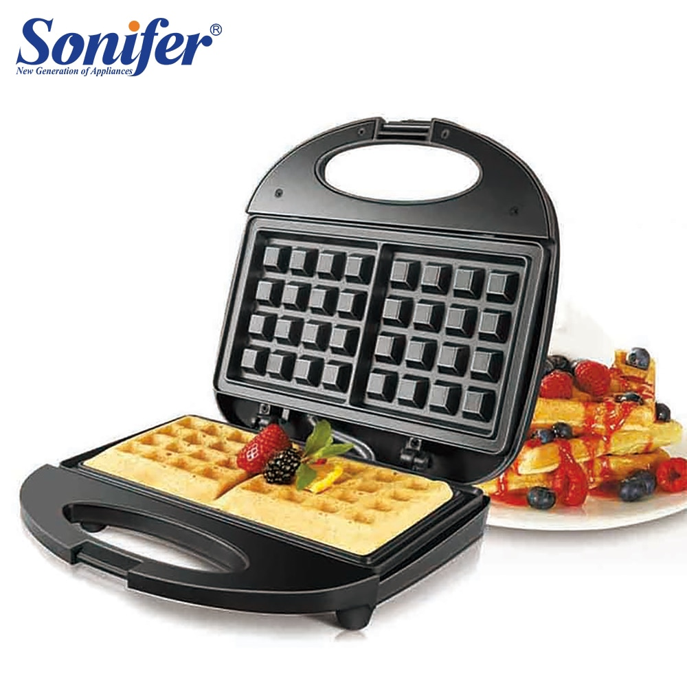 Электрическая машина для приготовления вафель, 750 Вт, Железная машина для приготовления бутерброда, яиц-пузырьков, духовки, вафельного стан...