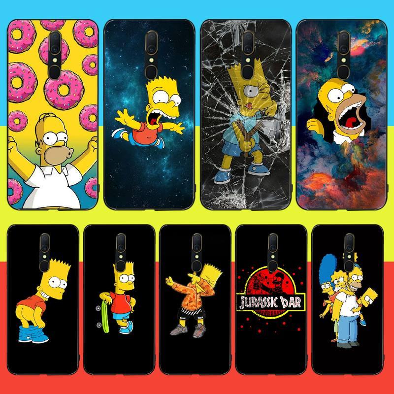 Nbdruicai homer j simpson engraçado bart simpson dos desenhos animados caso de telefone para oppo a5 a9 2020 a11x a71 a73s a1k a83