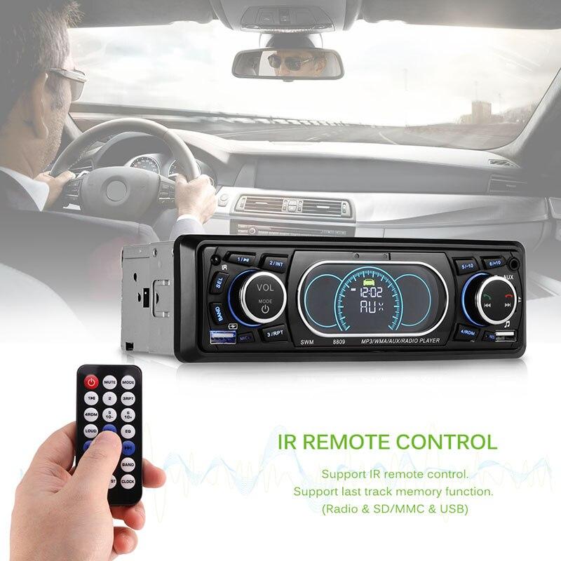 Car Radio 1 Din 12V Bluetooth Car Stereo LCD Display Autoradio FM Aux Input Receiver USB MP3 60W X 4 High Power Output EQ enlarge