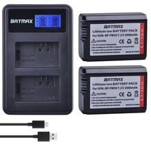 Batmax NP-FW50 npfw50 NPFW50 Battery+LCD Dual USB Charger for Sony NEX-7 NEX-5N NEX-5R NEX-F3 NEX-3D Alpha a5000 a6000 DSC-RX10