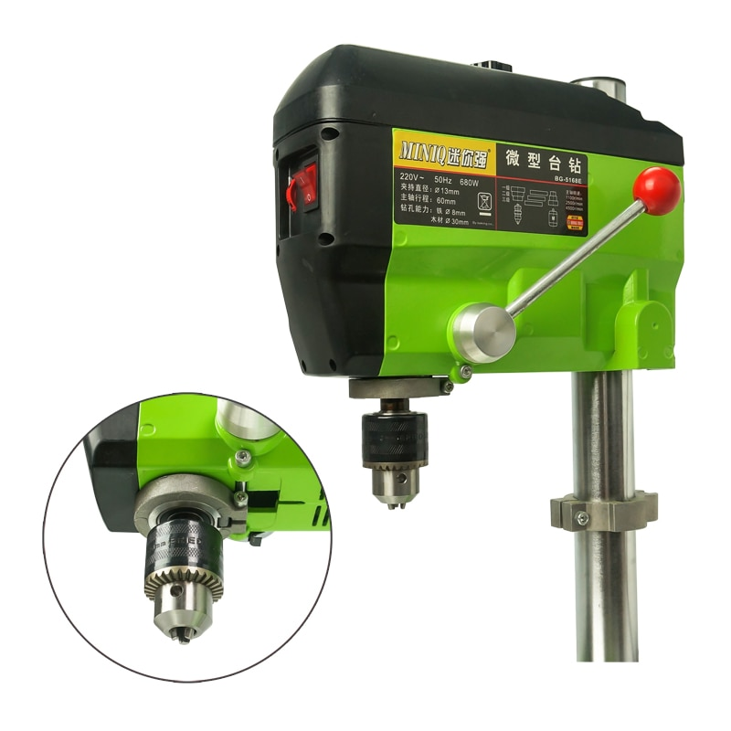 680W Mini Electric Drilling Machine Variable Speed Micro Drill Press Grinder Pearl DIY parts enlarge