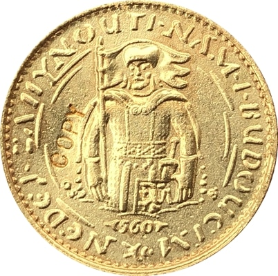 1923 checoslovacos 1 moneda Ducat copia 19,75 MM