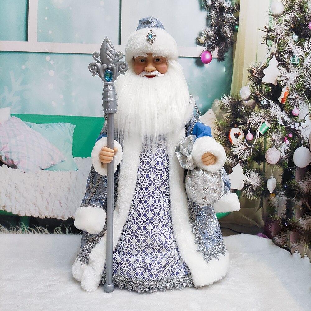 Muñecos eléctricos de Papá Noel para niños, juguete de decoración con música,...