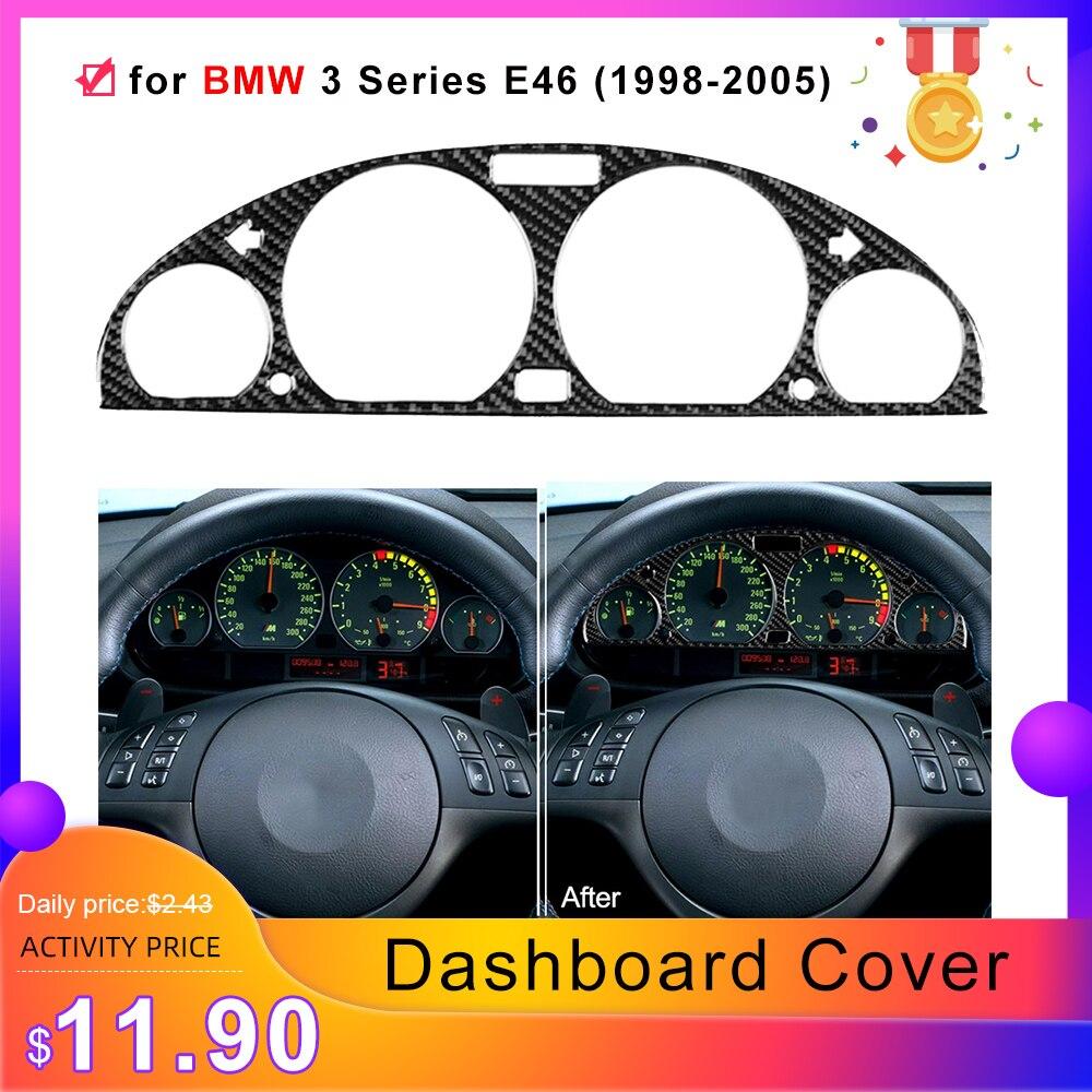 Unique for BMW3 Series E46 (1998-2005) Carbon Fiber Interior Instrument Dashboard Cover Dashboard Panel Frame Decorative Sticker