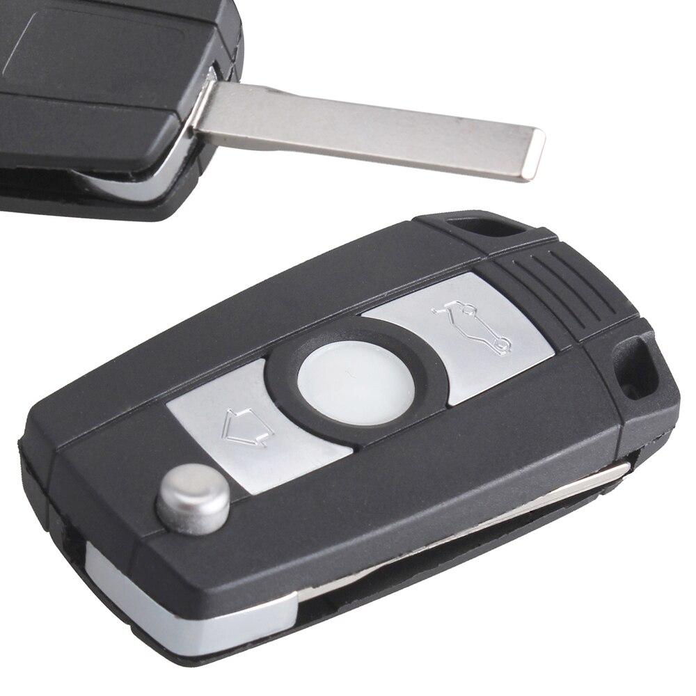 3 кнопки, сменный ключ, пульт дистанционного управления Fob, чехол, замена, без чипа, автомобильный флип-ключ, подходит для BMW E81 E46 E39 E63 E38 E83 E53 E36 ...