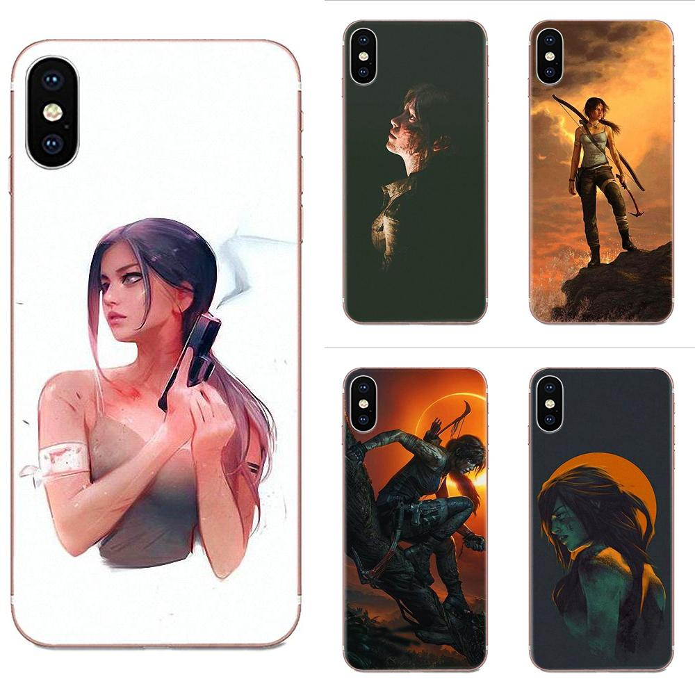 Para Samsung Galaxy J1 J3 J4 J5 J6 J7 A10 A20 A20E A3 A40 A5 A50 A7 2016, 2017 de 2018 Coque de Tomb Raider