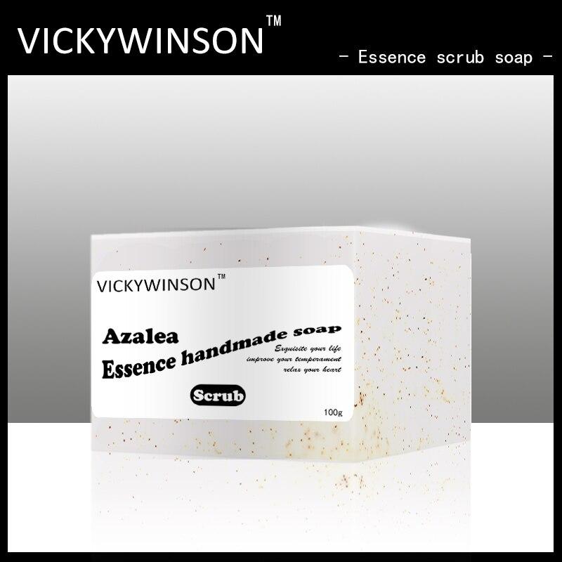 VICKYWINSON Azalea essence scrub soap 100g Face wash, bath, scrub, exfoliating, exfoliating cleansing Amino acid soap