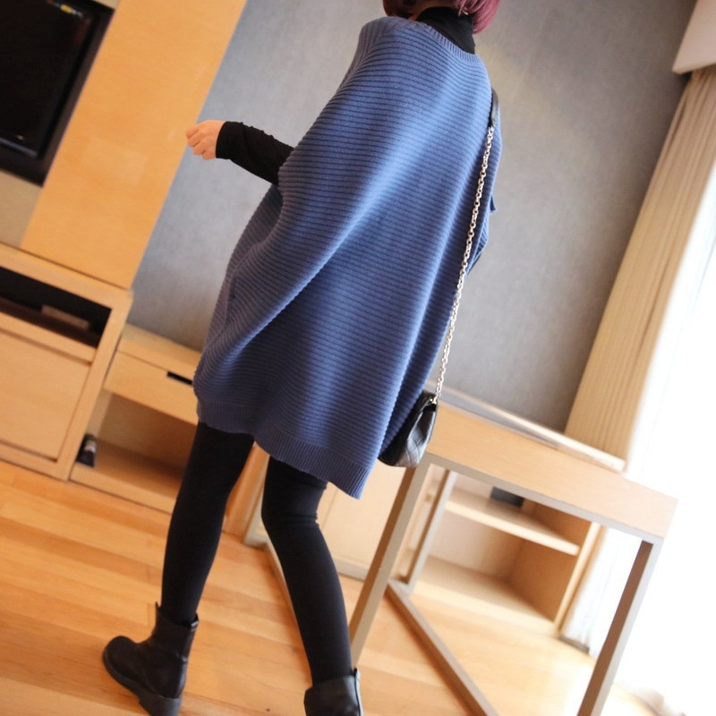 2020 Autumn And Winter The New Women's clothing fashion Mid-length Thicken Hedging wool dress Loose knitting Large size dress