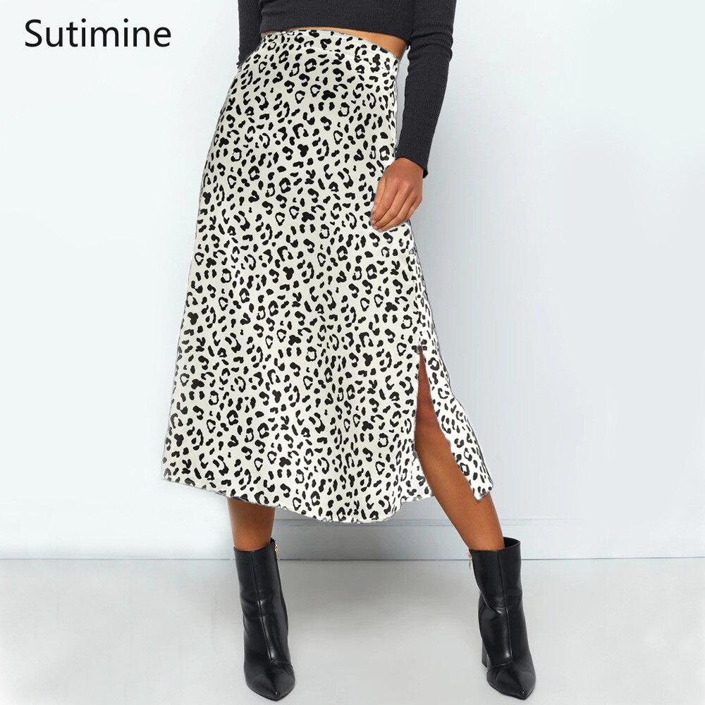 Женская шифоновая юбка с завышенной талией, юбка средней длины с цветочным принтом и разрезом, юбка с молнией, лето 2021