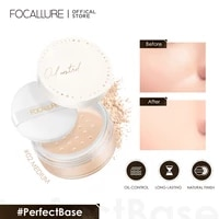 focallure face loose powder mineral 2 color waterproof matte setting finish makeup oil control professional womens cosmetics