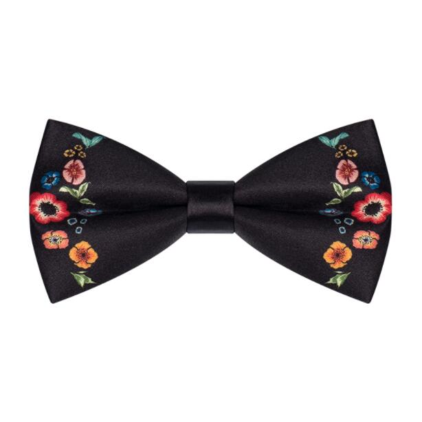 New Free Shipping men's male female Wedding bow tie Burgundy baroque print groom best man gift British party