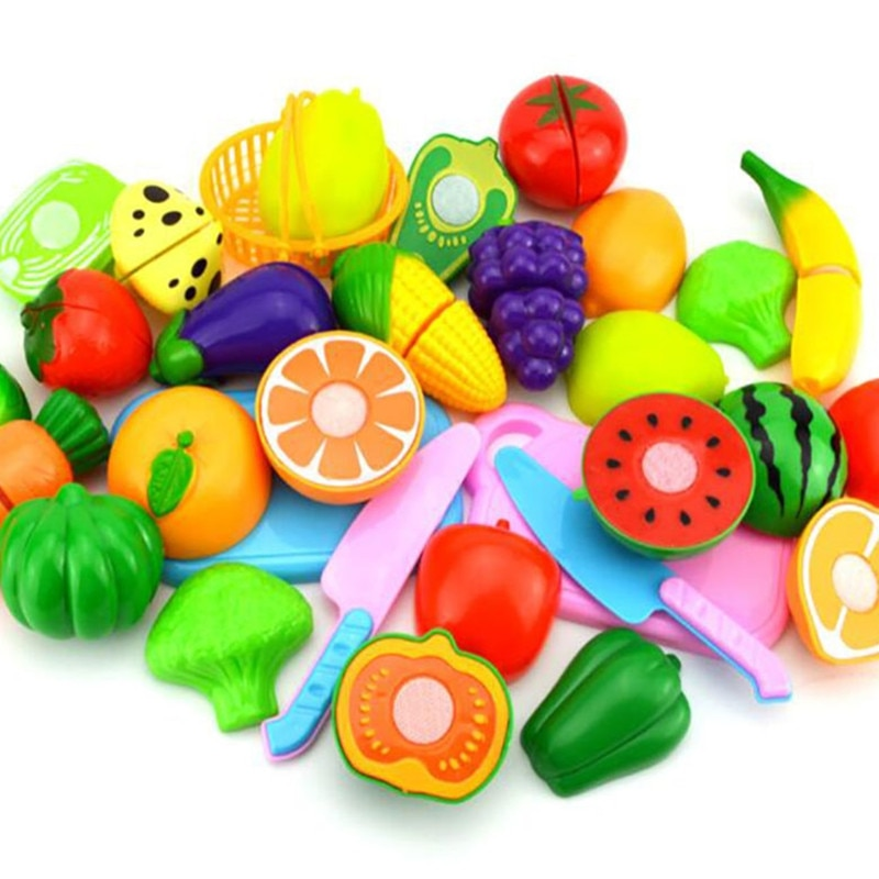 Cutting Fruits Vegetables Pretend Play kids Kitchen Toys Children Play House Toy Pretend Playset Kids Educational Toys