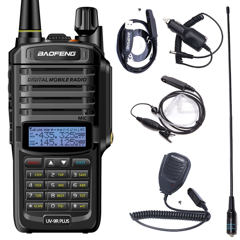 Baofeng UV-9R Plus Waterproof IP68 walkie talkie 8800mAh Portable 10km Long Range UV-9R 10W powerful Ham Radio Walkie Talkie