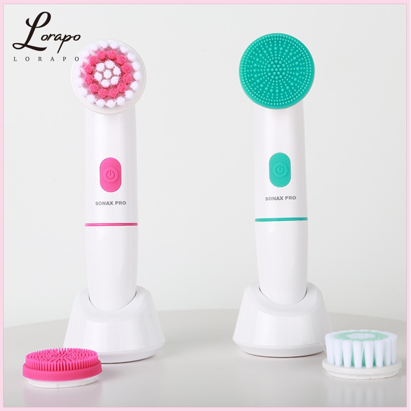 Facial Cleansing Brush Electric Cleansing Brush Sonic Vibration Massage Cleansing Brush Deep Cleansing and Exfoliating Skin Care