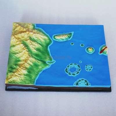 Island genesis demonstration model geography teaching instrument teaching aid geology