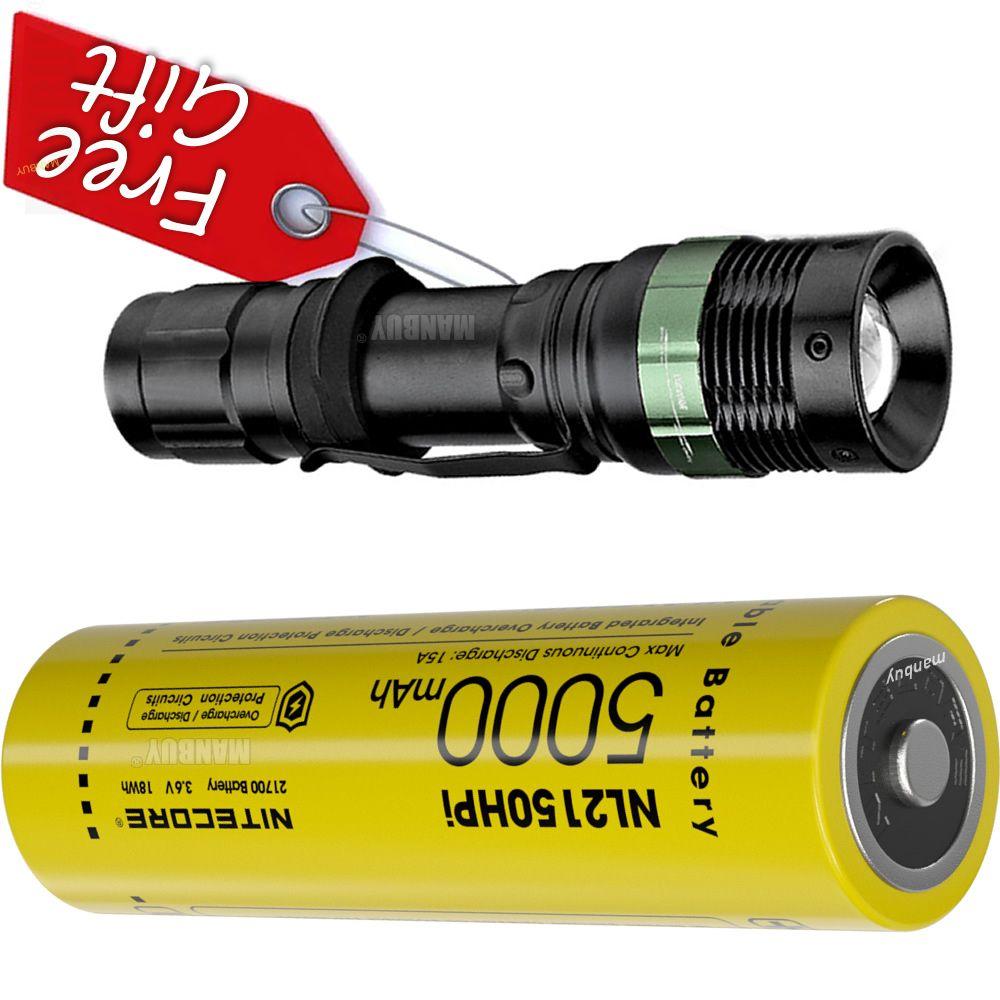 NITECORE i سلسلة محمية ليثيوم أيون (ليثيوم أيون) بطارية قابلة للشحن NL2150HPi 21700 5000mAh 3.6 فولت زر علوي لمصباح يدوي