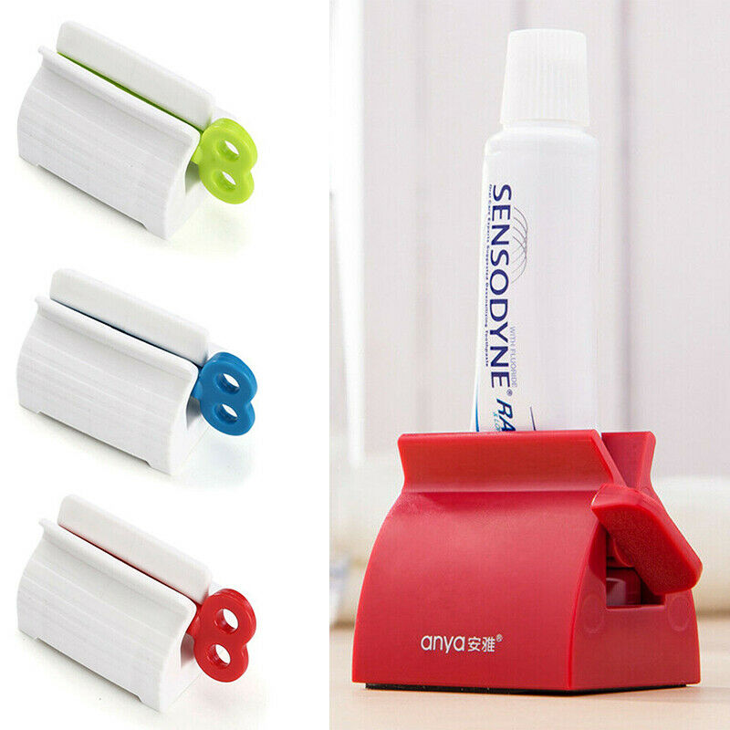 Multifuncional Plástico Rolando Espremedor de Tubo de Creme Dental Espremendo Creme Dental Dispensador Fácil Estande Titular Assento