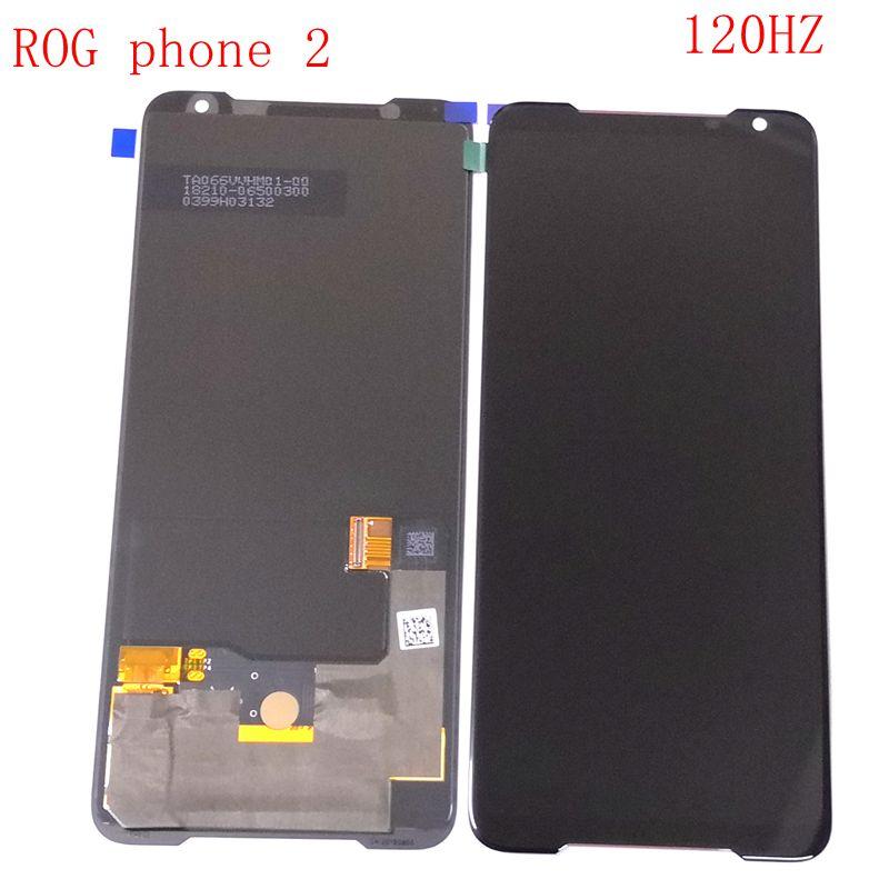 الأصلي rog2 Amoled ل آسوس Zenfone ZS660KL / ROG الهاتف 2 Lcd شاشة عرض تعمل باللمس الزجاج محول الأرقام I001D I001DA I001DE I001DC