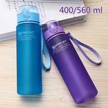 560/400ML Water Bottle Outdoor Sport Portable Plastic Drinkware with Rope Trip School Climbing Leak Proof Seal Water Bottle