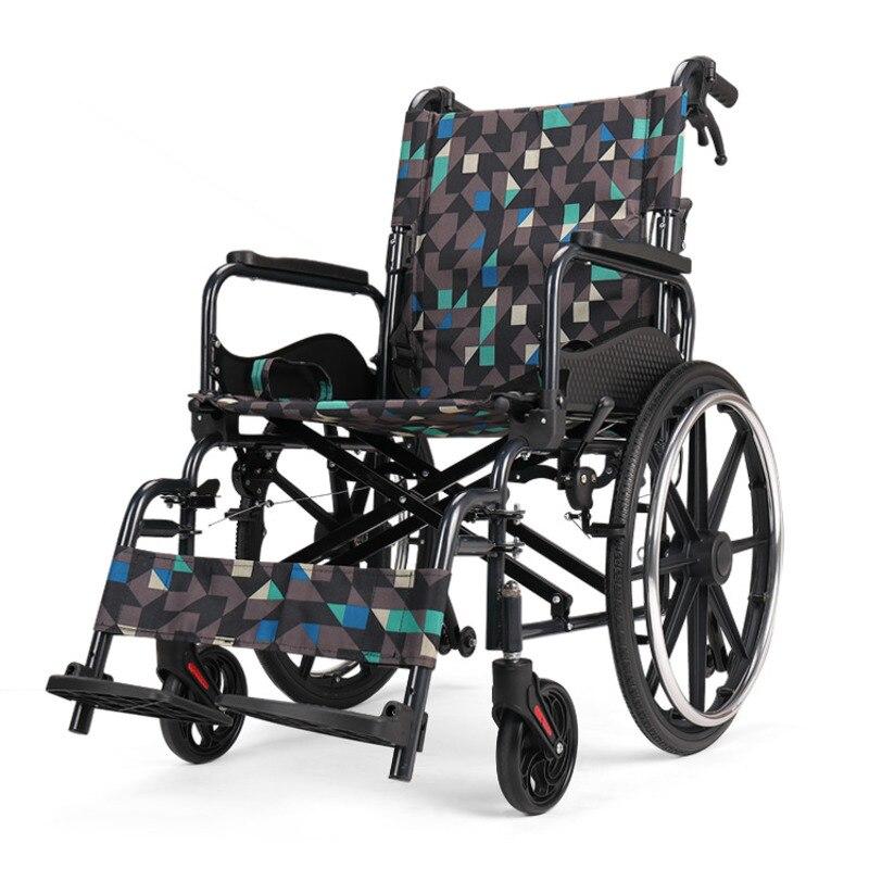 كرسي متحرك صغير وخفيف الوزن لكبار السن ، عصا مشي محمولة متعددة الوظائف ، عربة تنقل من سبائك الألومنيوم السميكة