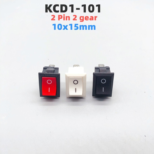10pcs KCD1-101 3A/250V small black 10*15mmSPST 2PIN ON/OFFG130 Boat Rocker Switch Car Dash Dashboard Truck RV ATV Home/Industry