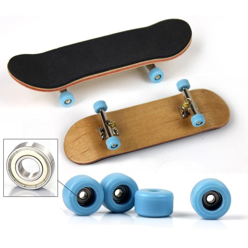 Diapasón de madera, monopatín de dedo profesional, madera, diapasones básicos con rodamientos, juego de cinta de espuma, monopatines de dedo