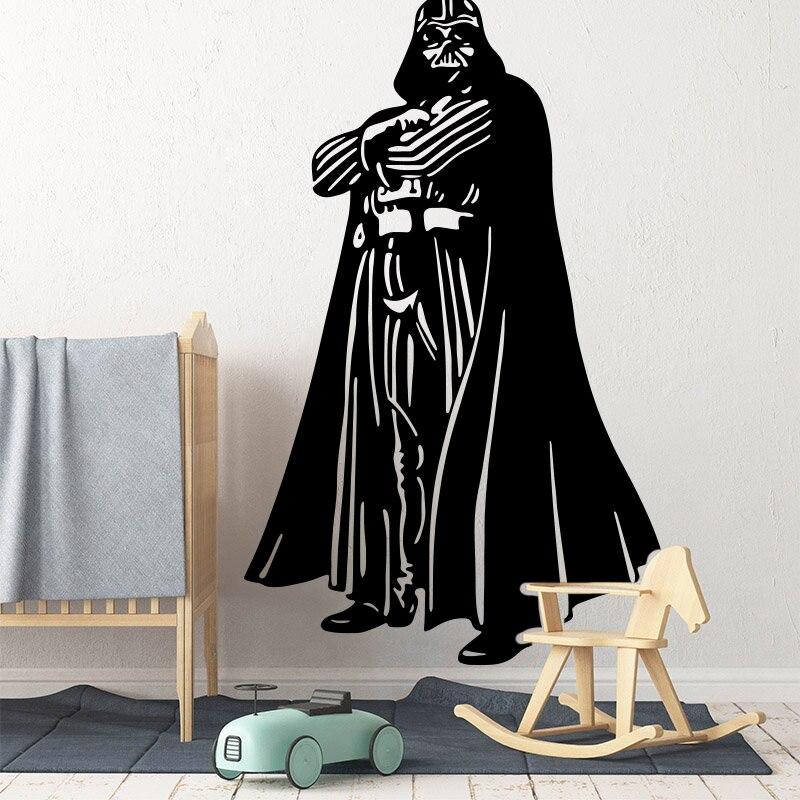 Large Star Wars Darth Vader Wall Sticker Kids Room Playroom Movie Star Wars Superhero Wall Decal Bedroom Vinyl Decor